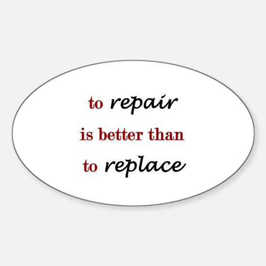 Repair Oval Decal