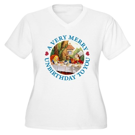 A VERY MERRY UNBIRTHDAY Women's Plus Size V-Neck T