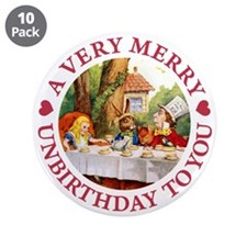 """A VERY MERRY UNBIRTHDAY 3.5"""" Button (10 pack)"""