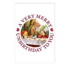 A VERY MERRY UNBIRTHDAY Postcards (Package of 8)