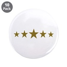 """Stars gold 3.5"""" Button (10 pack)"""