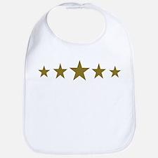 Stars gold Bib