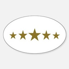 Stars gold Decal