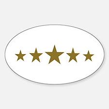 Stars gold Sticker (Oval)