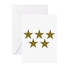 Golden Stars Greeting Cards (Pk of 20)