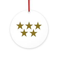 Golden Stars Ornament (Round)