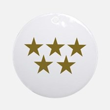Golden Stars Ornament (Round)