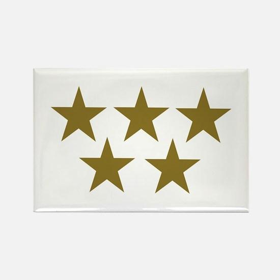 Golden Stars Rectangle Magnet