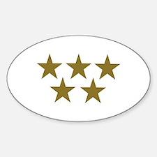 Golden Stars Sticker (Oval)