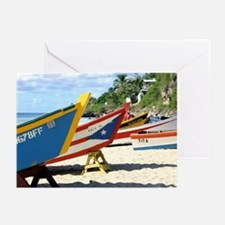 Fishing boats, Puerto Rico Greeting Cards (Package