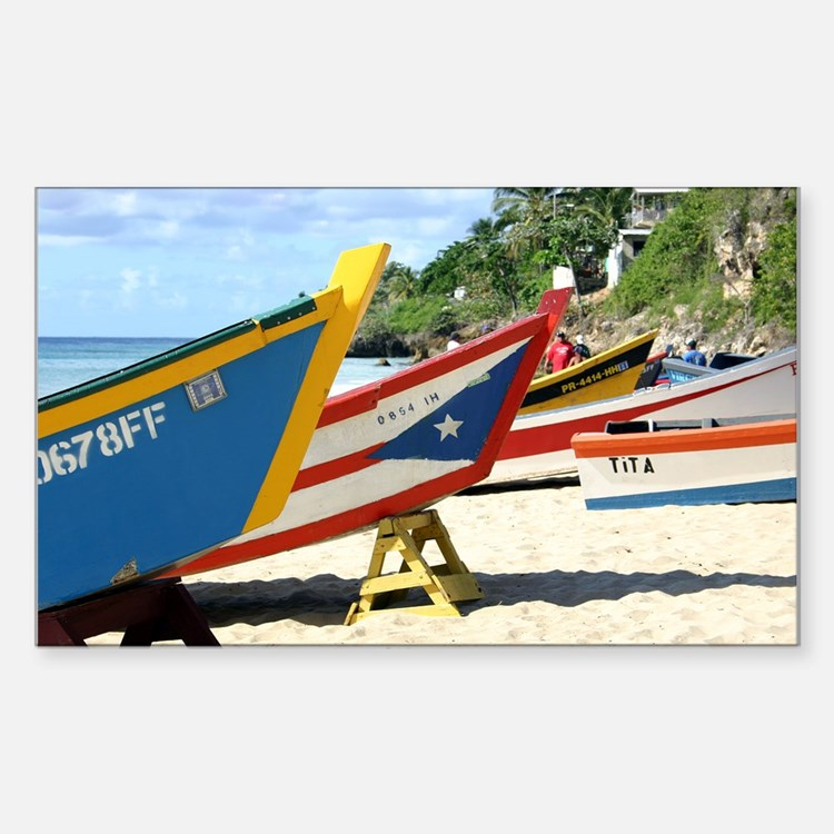 Fishing boats, Puerto Rico Rectangle Decal