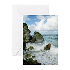 Rocks near El Tunel, Puerto Rico Greeting Cards (P