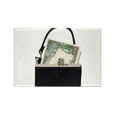 Purse With Big Bucks Rectangle Magnet