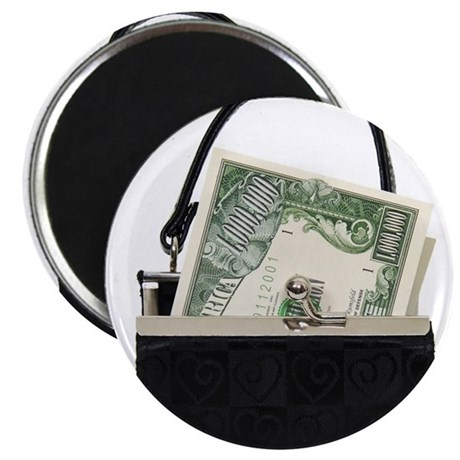 "Purse With Big Bucks 2.25"" Magnet (10 pack)"