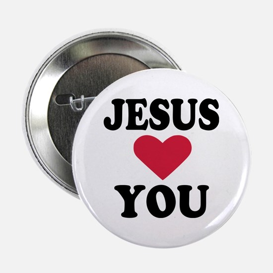 """Jesus loves you 2.25"""" Button"""