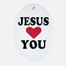 Jesus loves you Ornament (Oval)