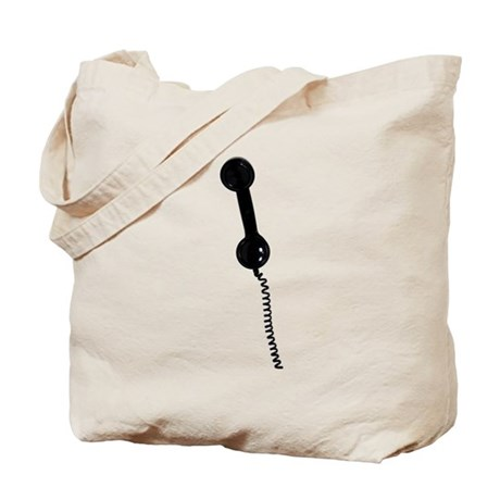 Retro Phone Handset Tote Bag