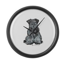 Cesky Terrier Large Wall Clock
