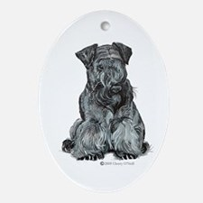 Cesky Terrier Ornament (Oval)