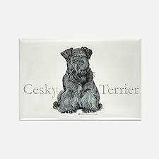 Cesky Terrier Rectangle Magnet