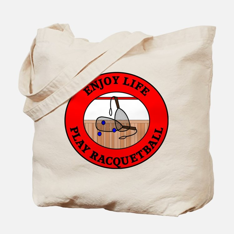 Enjoy Life Play Racquetball Tote Bag