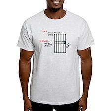 Anti-Animal Abuse Ash Grey T-Shirt