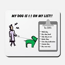 #1 on My List Mousepad
