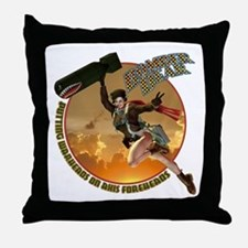 Bomber Dear Throw Pillow