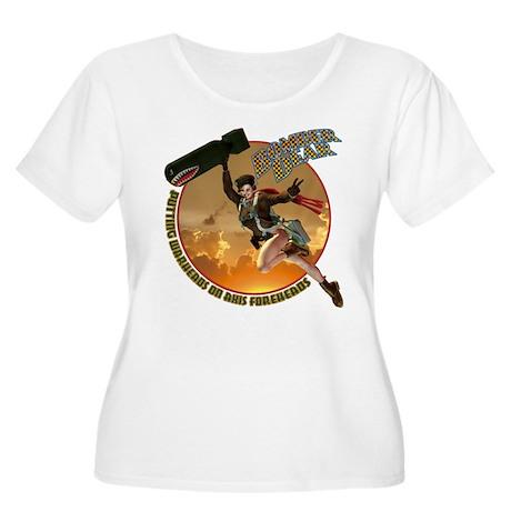 Bomber Dear Women's Plus Size Scoop Neck T-Shirt