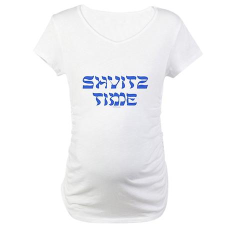 Shvitz Time Yiddish Maternity T-Shirt