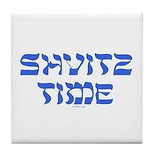 Shvitz Time Yiddish Tile Coaster