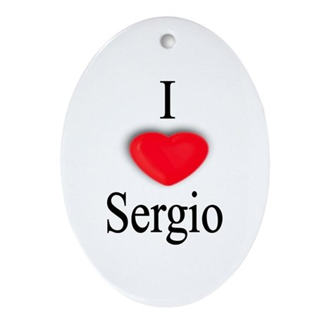 Sergio Oval Ornament