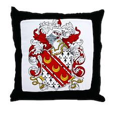 Huxley Coat of Arms Throw Pillow