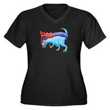 Triviasaurus Women's Plus Size V-Neck Dark T-Shirt
