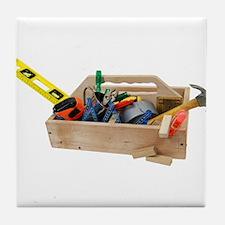 Wooden Toolbox Tile Coaster