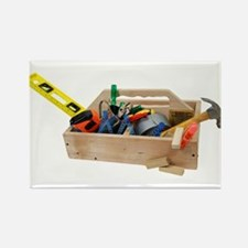 Wooden Toolbox Rectangle Magnet