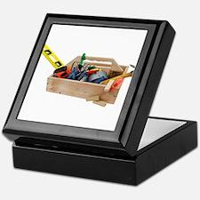 Wooden Toolbox Keepsake Box