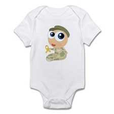 Support Our Troops Yelllow Ribbon Infant Bodysuit