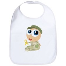Support Our Troops Yelllow Ribbon Bib
