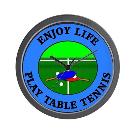 Enjoy Life Play Table Tennis Wall Clock