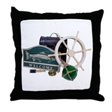 Welcome Nautical Throw Pillow