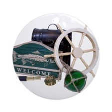 Welcome Nautical Ornament (Round)