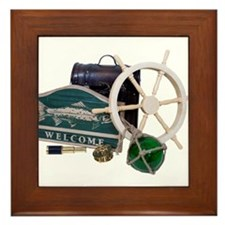 Welcome Nautical Framed Tile