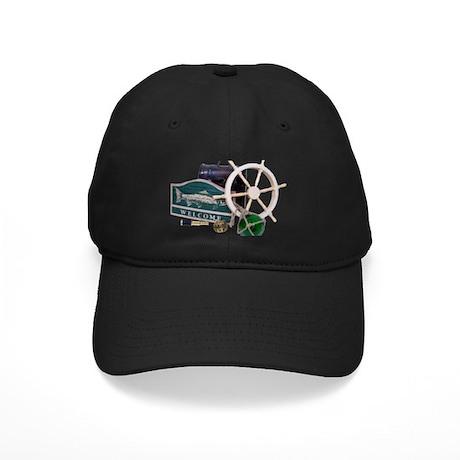 Welcome Nautical Black Cap
