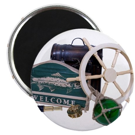 """Welcome Nautical 2.25"""" Magnet (10 pack)"""