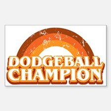 DodgeBall Champion Rectangle Decal