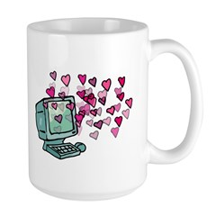 Virtual Love Large Mug