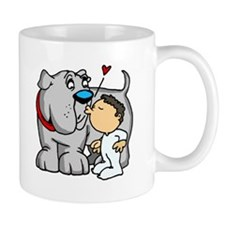 Bulldog Kiss Small Mugs