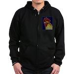 Freestyle Rooster Head Zip Hoodie (dark)