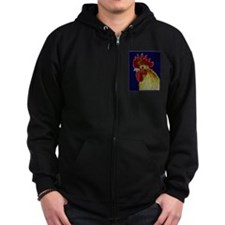 Freestyle Rooster Head Zipped Hoodie